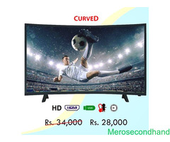 Curved LCD TV on sale at kathmandu