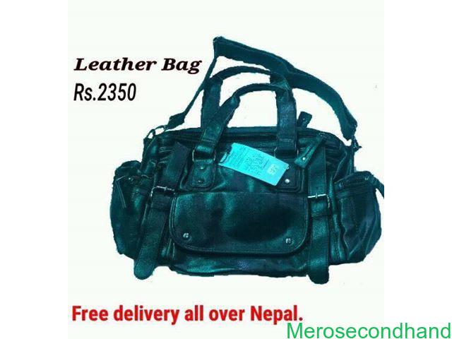 Leather bag on sale at kathmandu - 1/1
