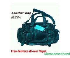 Leather bag on sale at kathmandu