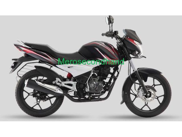 Bajaj discover 125 st black and red bike on sale at kathmandu - 1/1