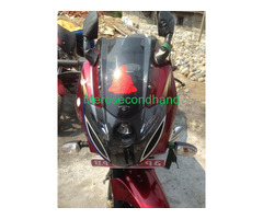 Used secondhand pulsar 220F bike on sell at pokhara