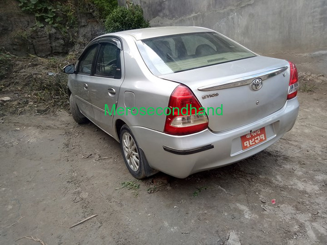 Full option secondhand toyota etios car on sale at kathmandu - 2/6