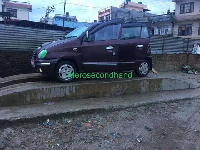 Secondhand - huyandai santro car on sale at kathmandu - 2/3