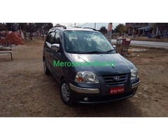 Secondhand santro 2019 car on sale at pokhara nepal