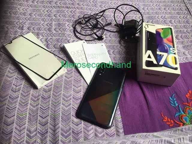 Samsung A70s mobile on sale at kathmandu nepal - 4/5