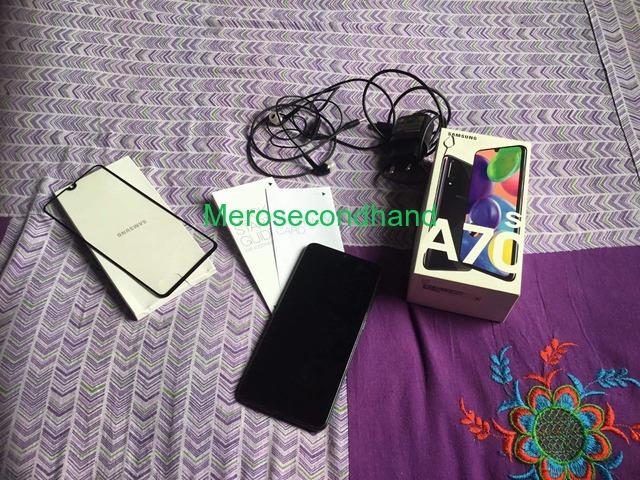 Samsung A70s mobile on sale at kathmandu nepal - 5/5